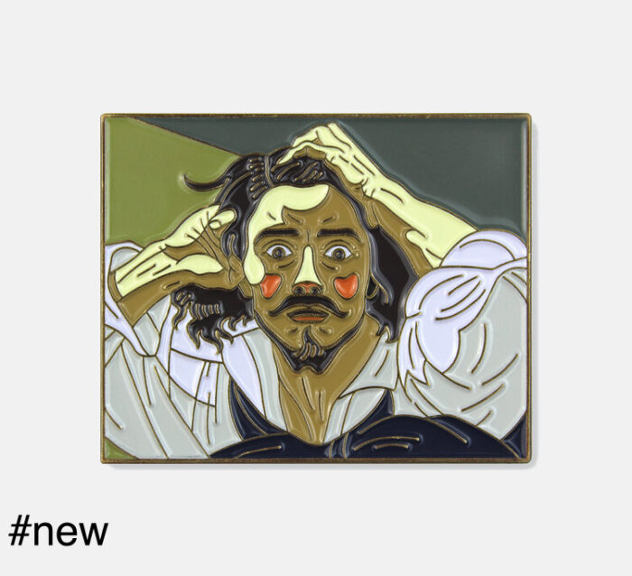 the desperate man by gustave courbet enamel pin brooch pin museum wearable art